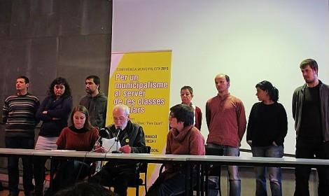 Municipalisme al servei de les classes populars CUP, elecccions municipals 2015
